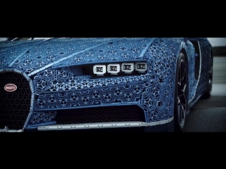 Копия Bugatti Chiron из миллиона деталей Lego Technic.