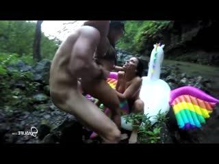 Epic Hardcore 4 Way Fuck Fest in Beautiful Waterfall, Adriana, Megan, Kissa