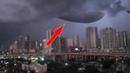 HUGE UFO Spotted over Orlando, Florida - Strange Floating Lights?! - Feb 9, 2018