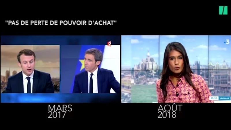 Macron menteur