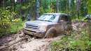 Крутой Land Rover на пневме в сложной ситуации Выдержит Гусеничный квадротанк в болоте