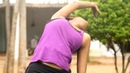 Side Bends Yoga Pose for Lower Back Abdomen Simple Yoga for Beginners Fit a Bit TV