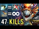 47 KILLS 58 Agi Permanently Highest Record IMMORTAL RANK New Cancer Slark Is Back Crazy 7.20 Dota 2