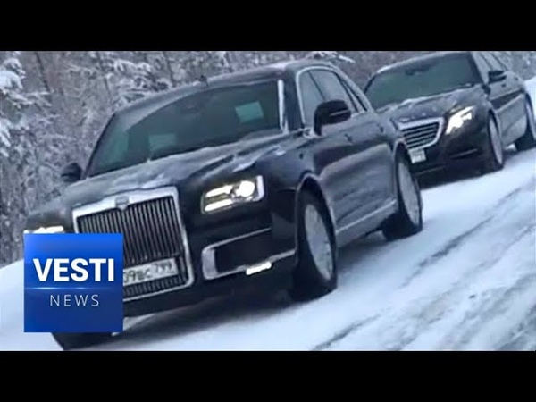 """Putin's """"Aurus Senat"""" Presidential Limousine Goes to Yamal to Test Out Siberian Frost!"""