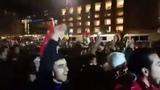 Germany, Berlin : Muslims and Arabs celebrating Allah