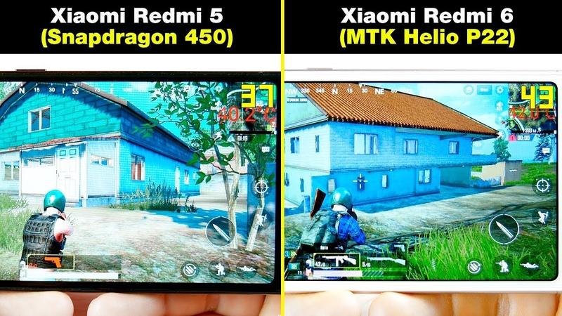 Xiaomi Redmi 6 (Helio P22) vs Xiaomi Redmi 5 (Snapdragon 450) БОЛЬШОЙ ТЕСТ В ИГРАХ! FPS НАГРЕВ