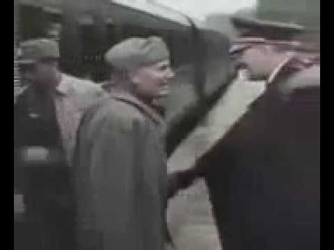 Mussolini and hitler mess up a handshake