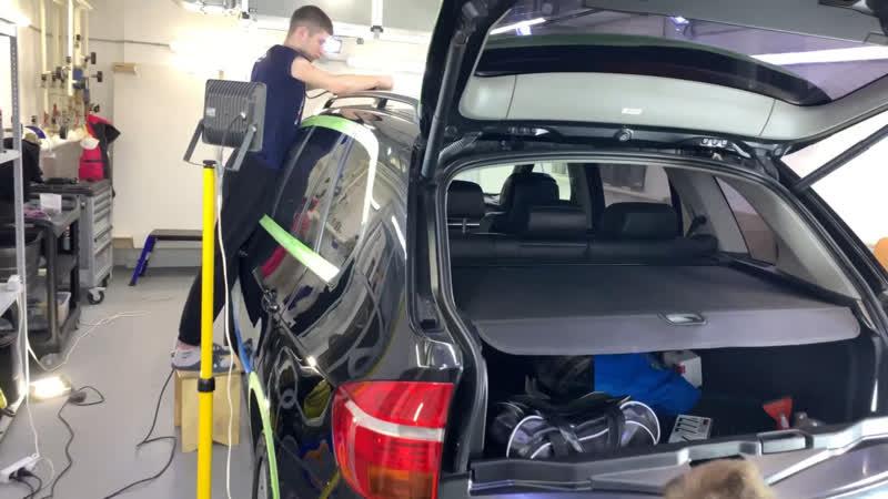 Полировка BMW X5 штатными специалистами!