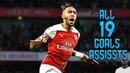 Pierre Emerick Aubameyang ● All 19 Goals Assists so Far ● 2018/19 HD