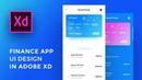 Design Finance App UI Adobe Xd For iPhone Xs - Speed Art Tutorial