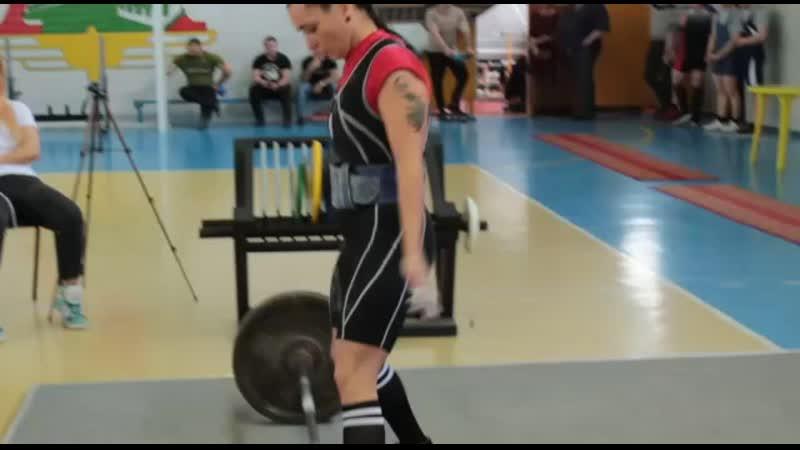 Становая тяга 125кг б/э с Д/к в/категория до 56кг(Норматив Мастера спорта)