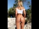 Natalia Garibotto молодая студентка с шикарной сочной попкой в масле на пляже секс большие жопы не порно big juicy ass booty