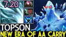 TOPSON [Ancient Apparition] New Era of AA Carry New Item Imba Gameplay 7.20 Dota 2