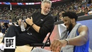 76ers put an end to Brett Brown speculation, Joel Embiid's support is invaluable - Woj | Get Up!