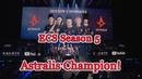Astralis champion 🏆 ECS Season 5 champions Grand Final vs Team Liquid Winning moment CyberWins