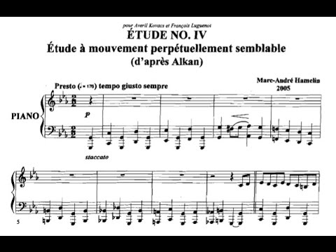 Marc-André Hamelin - Étude No. 4 in C minor daprès Alkan