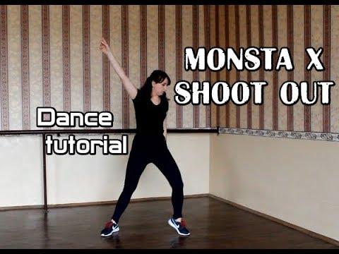 Dance tutorial Monsta X - Shoot out|Разбор хореографии Monsta X - Shoot out(зеркальное|mirrored)