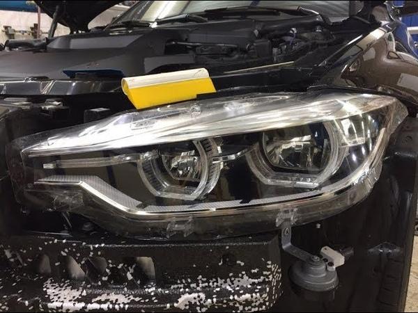 Что и как Антигравийная пленка Фары BMW 3