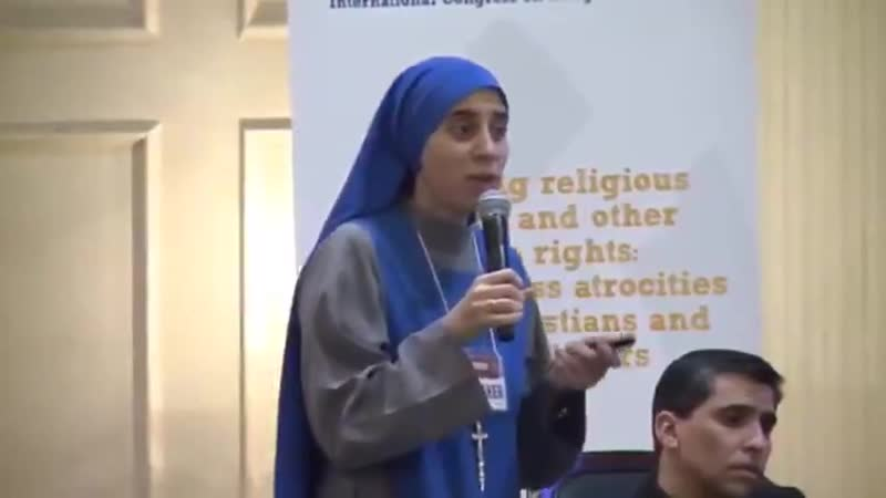 This Catholic Christian sister is from Argentina, she was as a missionary in Syria. Listen to her testimony