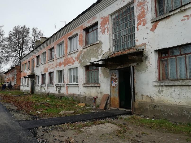 Курская область. Бывшее общежитие в посёлке имени Карла Либкнехта признали аварийным