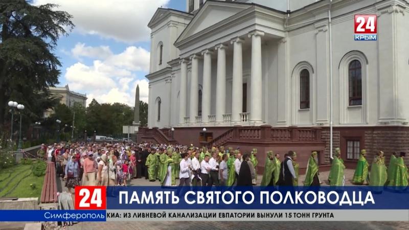 Престольный праздник отметили в возрождающемся Кафедральном Соборе святого благоверного князя Александра Невского