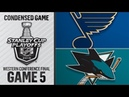 NHL 19 PS4. 2019 STANLEY CUP PLAYOFFS WESTERN CONFERENCE FINAL GAME 5: BLUES VS SHARKS. 05.19.2019. (NBCSN) !