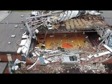 Drone video shows gym of Panama City school destroyed by Hurricane Michael