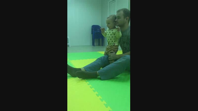 Ванюша на занятиях с Кириллом Першиным