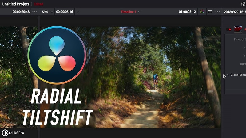 Radial Tiltshift in Davinci Resolve 4min Tutorial by Chung Dha
