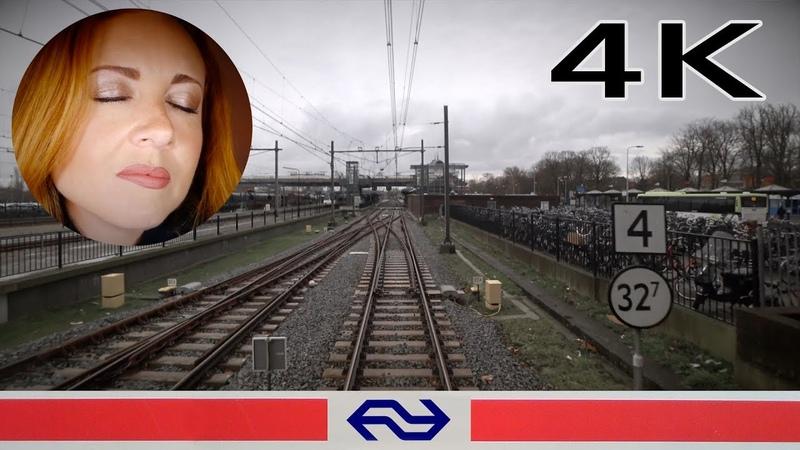 ✨ASMR✨Humming girl on a train 4K CABVIEW HOLLAND [ASMR] Amsterdam - Enkhuizen VIRM 15mrt 2019