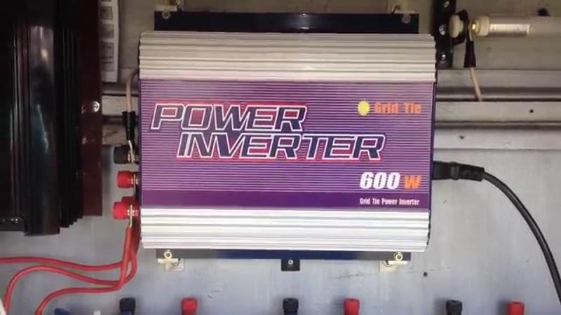 Ветрогенератор и сетевой ( grid tie ) инвертор. Запуск!