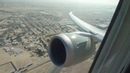 Qatar Airways Boeing 787-8 Dreamliner Takeoff from Doha - Window View