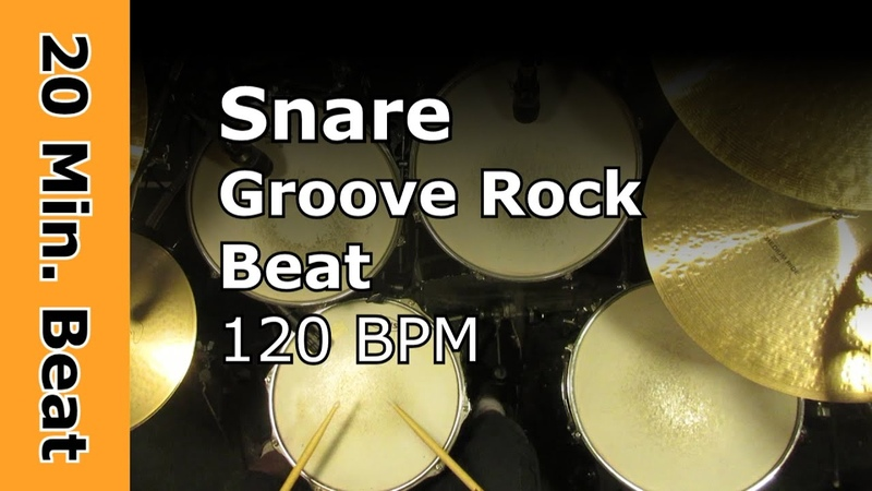 Snare Groove Rock Drum Loops 120 BPM 20 Min Ride Version