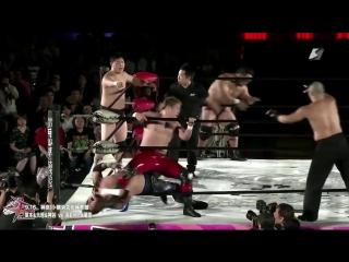 Daisuke Sekimoto, Daichi Hashimoto, Hideyoshi Kamitani vs. Ryota Hama, Ryuichi Kawakami, Kazumi Kikuta (BJW - Death Vegas 2018)