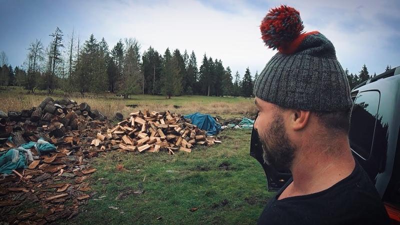 Как заработать на дровах в США Русские помогают американцу инвалиду