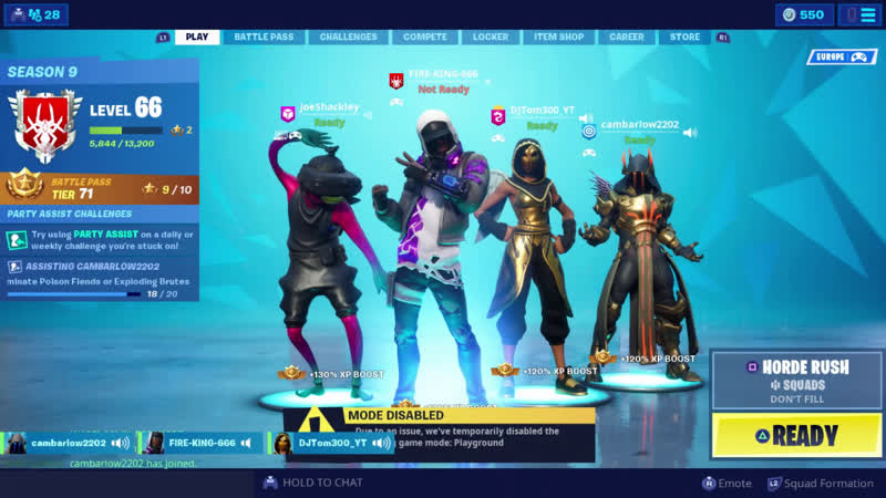Fortnite with sub and friens lets do somw horde rush