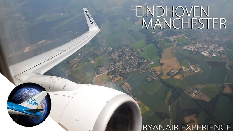 RYANAIR Boeing 737-800 Take off at Eindhoven Airport to Manchester