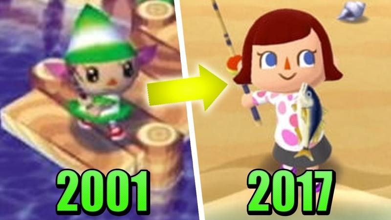 Эволюция игр Animal crossing (2001 - 2017)
