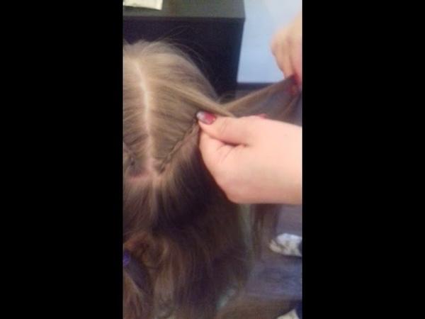 МК Прически для маленьких принцесс - Коса сердечко