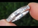 $11,340 GIA Certified 90 PURE PLATINUM - Diamond Wedding / Anniversary Band up for AUCTION