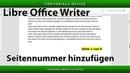 Seitennummern hinzufügen ganz einfach (Libre Office Writer)