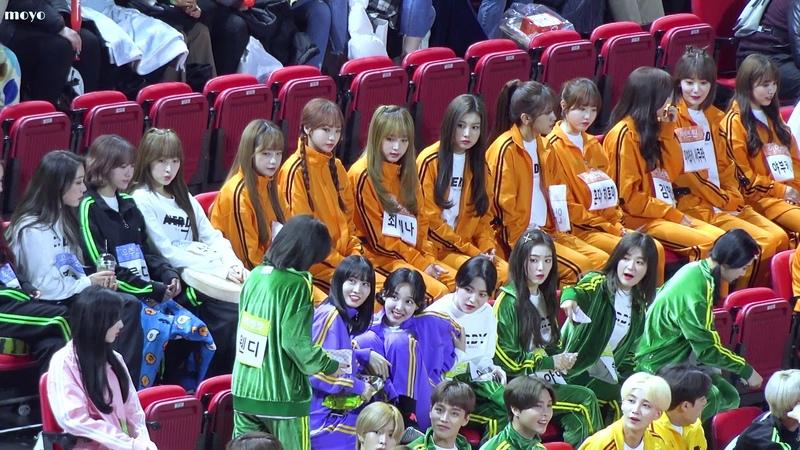 [4K] 190107 아육대에서 레드벨벳을 만난 아이즈원 / IZONE reaction first meet with Red Velvet