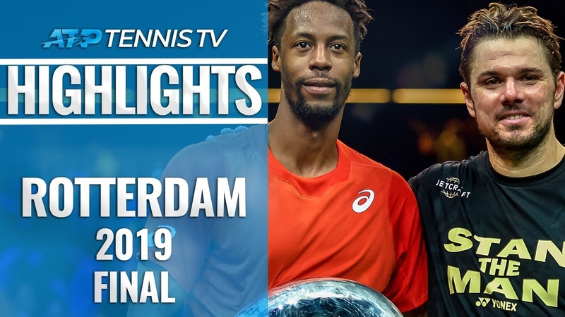 Monfils Edges Wawrinka for 8th Career Title | Rotterdam 2019 Final Highlights