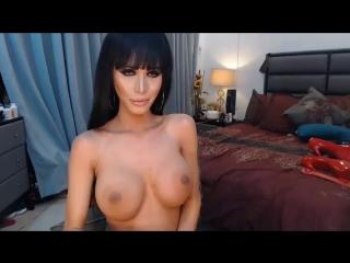 Great Diva on Cam (Красотки Shemale   Трансы TS Ladyboy Трапы Sissy Trap Crossdresser Tranny Porno Sex)