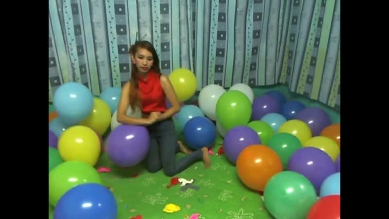 Kimlooner Ly - x100 balloons Sit Popped. Endurance Popping