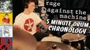 Rage Against the Machine 5 Minute Drum Chronology HD Joe Bonham