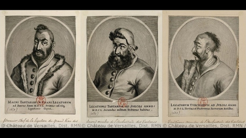Крымскотатарские мужчины носили чубы