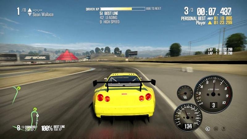 NFS SHIFT 2 UNLEASHED - Nissan Skyline GTR R34 - Laguna Seca - 1080p HD