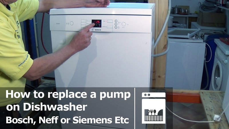 Dishwasher how to replace a Pump Bosch Neff or Siemens E25 fault