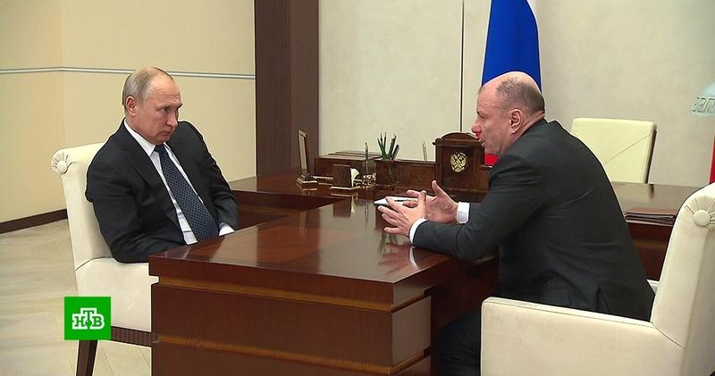 Потанин доложил Путину о ситуации с выбросами серы на «Норникеле»